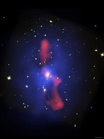 This is a New Composite Image of Galaxy Cluster MS0735.6+7421-Stocktrek Images-Photographic Print