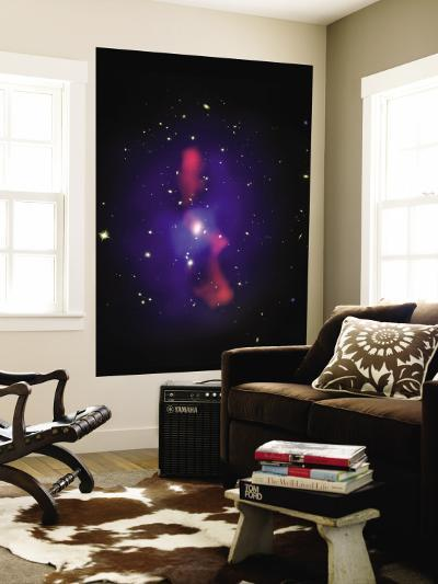 This is a New Composite Image of Galaxy Cluster MS0735.6+7421--Wall Mural