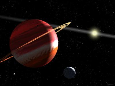 This is an Artist's Concept of a Jupiter-Mass Planet Orbiting the Nearby Star Epsilon Eridani-Stocktrek Images-Photographic Print