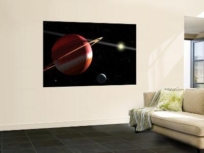 This is an Artist's Concept of a Jupiter-Mass Planet Orbiting the Nearby Star Epsilon Eridani--Wall Mural