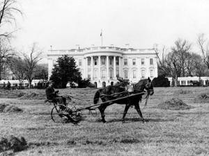 This is an Undated View of the White House Building