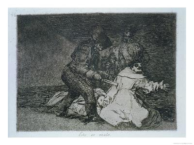 "This is Bad, Plate 46 of ""The Disasters of War,"" 1810-14, Published 1863-Francisco de Goya-Giclee Print"