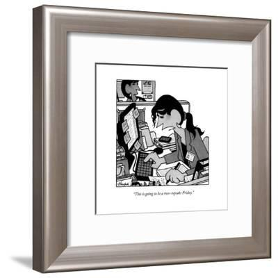"""""""This is going to be a two-cupcake Friday."""" - New Yorker Cartoon--Framed Premium Giclee Print"""