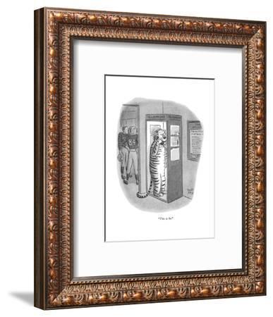 """This is he."" - New Yorker Cartoon-Robert J. Day-Framed Premium Giclee Print"