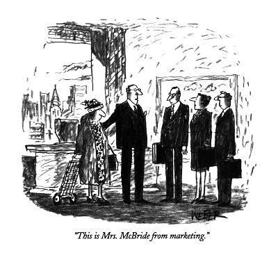 """This is Mrs. McBride from marketing."" - New Yorker Cartoon-Robert Weber-Premium Giclee Print"