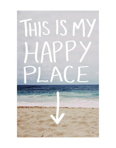 This Is My Happy Place (Beach)-Leah Flores-Art Print