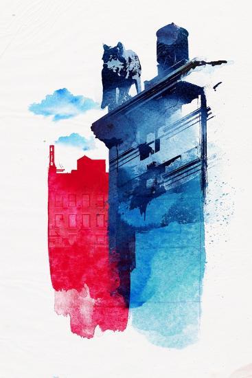 This Is My Town-Robert Farkas-Art Print