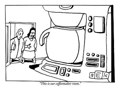 """""""This is our coffeemaker room."""" - New Yorker Cartoon-Bruce Eric Kaplan-Premium Giclee Print"""
