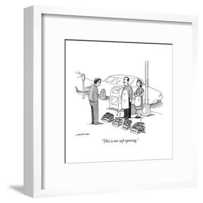 """""""This is our soft opening."""" - New Yorker Cartoon--Framed Premium Giclee Print"""