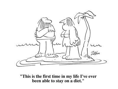 """This is the first time in my life I've ever been able to stay on a diet."" - Cartoon-Bob Zahn-Premium Giclee Print"