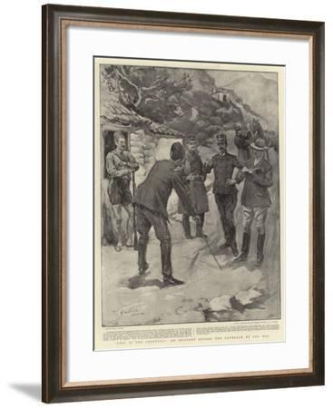 This Is the Frontier, an Incident before the Outbreak of the War--Framed Giclee Print