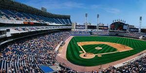 This Is the New Comiskey Park Stadium. Playing are the White Sox Vs the Texas Rangers