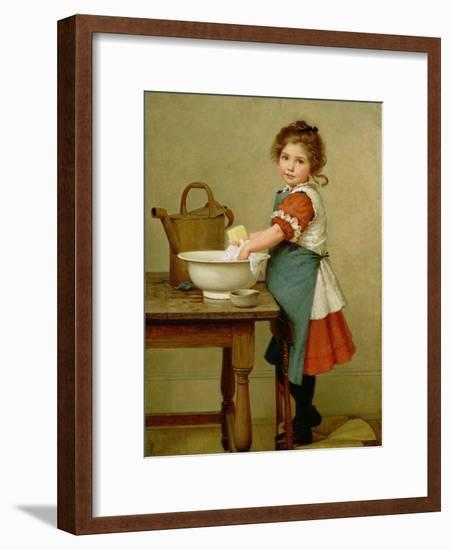 This Is the Way We Wash Our Clothes-George Dunlop Leslie-Framed Giclee Print