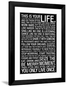 This Is Your Life Motivational Quote