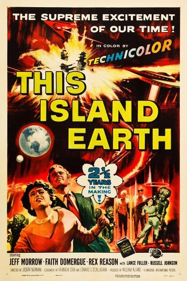 THIS ISLAND EARTH, Faith Domergue, Rex Reason, Jeff Morrow, 1955--Art Print