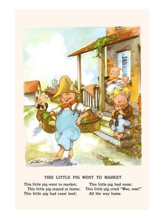 This Little Pig Went to Market-Bird & Haumann-Art Print