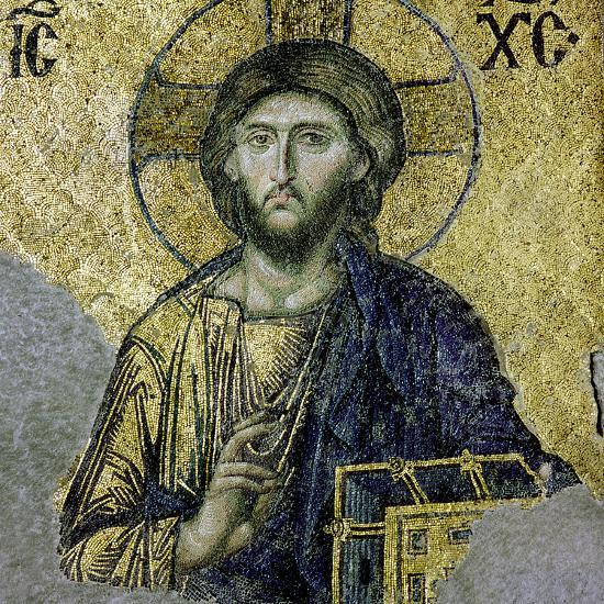 This Mosaic of the Enthroned Christ Is in the South Gallery of the Hagia Sophia, Istanbul--Giclee Print