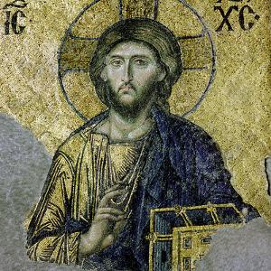 This Mosaic of the Enthroned Christ Is in the South Gallery of the Hagia Sophia, Istanbul