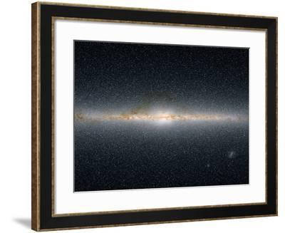 This Panoramic View Encompasses the Entire Sky As Seen by Two Micron All-Sky Survey-Stocktrek Images-Framed Photographic Print
