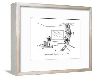 """""""This part of the ride always creeps me out."""" - New Yorker Cartoon--Framed Premium Giclee Print"""