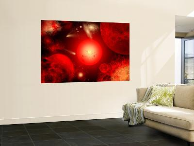 This Red Giant Star Is Much Older and Bigger Than Earth's Sun-Stocktrek Images-Giant Art Print
