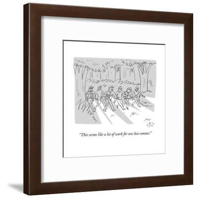 """""""This seems like a lot of work for one lost contact."""" - New Yorker Cartoon--Framed Premium Giclee Print"""
