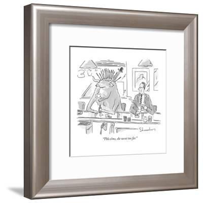 """This time, she went too far."" - New Yorker Cartoon-Danny Shanahan-Framed Premium Giclee Print"