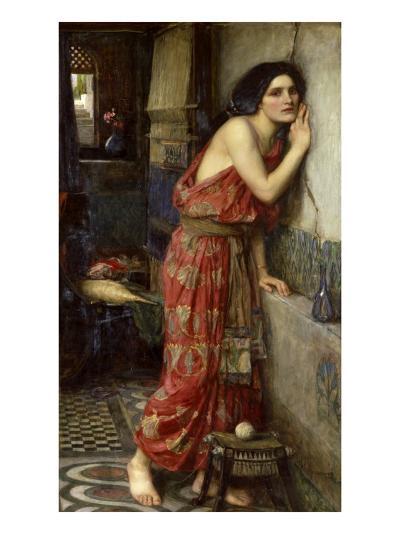 Thisbe' or 'The Listener', 1909-John William Waterhouse-Giclee Print