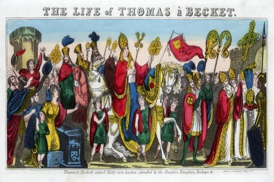 Thomas a Becket's Grand Entry into London…, 12th Century--Giclee Print