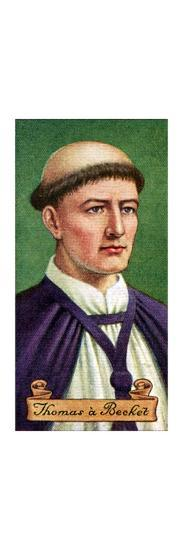 Thomas a Becket, taken from a series of cigarette cards, 1935. Artist: Unknown-Unknown-Giclee Print