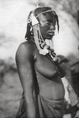 Arab Woman of the Southern Sudan, Abu Matarik to Halfa, Sudan, 1925