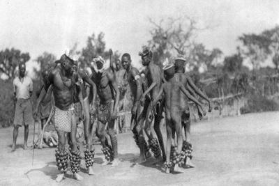 Ugandan Dancers, Dodoma to Mongalla, Uganda, 1925