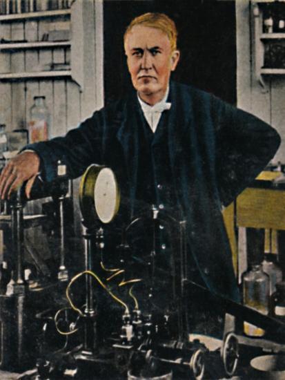 'Thomas Alba Edison 1847-1931', 1934-Unknown-Giclee Print