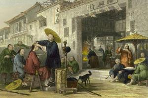 Itinerant Barber by Thomas Allom