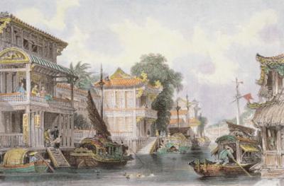 Scene on the Horan Canal Near Canton, C.1850 by Thomas Allom
