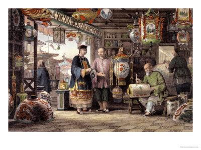 "Showroom of a Lantern Merchant in Peking, from ""China in a Series of Views"""