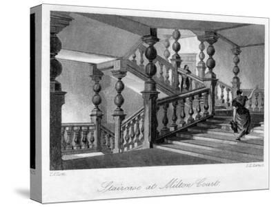 Staitcase at Milton Court, Near Dorking, Surrey, 19th Century