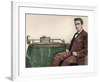 Thomas Alva Edison (1847-1931). American Inventor-Prisma Archivo-Framed Photographic Print