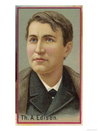 Thomas Alva Edison American Electrical Engineer and Inventor--Giclee Print