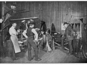 Thomas Alva Edison Testing His Phonograph, Circa 1900