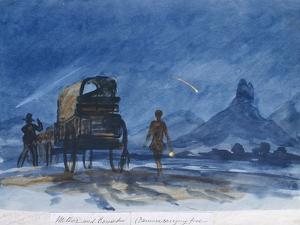 Comet and Meteor Seen from Camp, Botswana, 1862 by Thomas Baines