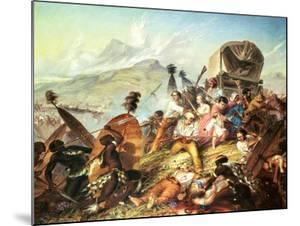 The Battle of Blauwkrantz, 1838 by Thomas Baines