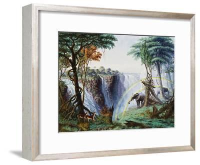 The Mosi-O-A-Tunya (Smoke Resounding) or Victoria Falls, Zambesi River, 1874