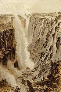 The Victoria Fall, Zambesi, from the East End of the Chasm by Thomas Baines