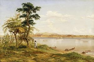 Town of Tete from the North Shore of the Zambezi, 1859 by Thomas Baines