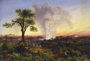 Victoria Falls at Sunrise by Thomas Baines