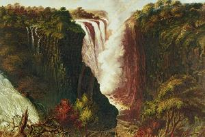 Victoria Falls from Western End of Chasm by Thomas Baines
