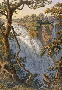 Victoria Falls: the Leaping Water (Colour Litho) by Thomas Baines