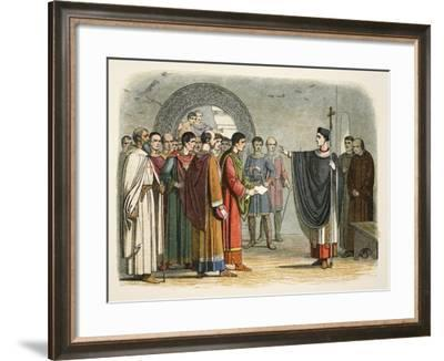 Thomas Becket Forbids the Earl of Leicester to Pass Sentence on Him-James William Edmund Doyle-Framed Giclee Print