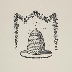 A Beehive With Floral Garland by Thomas Bewick